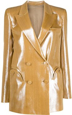 double breasted jacket - GOLD