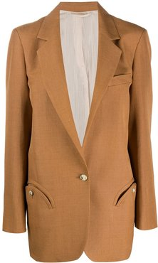fitted single-breasted blazer - NEUTRALS