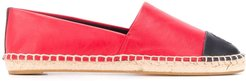 two tone espadrilles - Red
