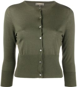 cropped cashmere cardigan - Green