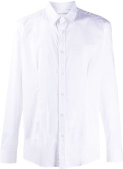 formal buttoned shirt - White