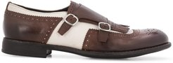 contrast monk shoes - Brown