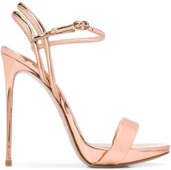 open toe stiletto heel sandals - PINK