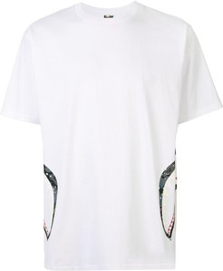 shark teeth print T-shirt - White