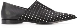 polka dot babouche loafers - Black