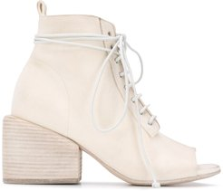 lace up ankle boots - NEUTRALS