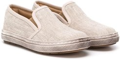 slip-on flat loafers - NEUTRALS