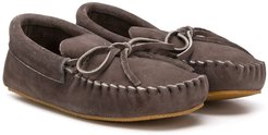 lace detailed moccasin shoes - Grey