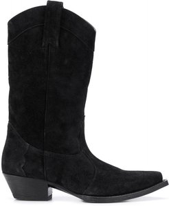 Lukas 40mm western boots - Black