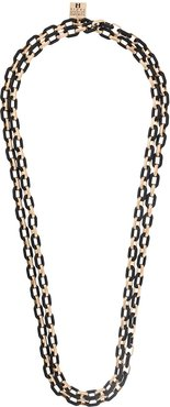 chain-link necklace - Black