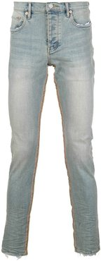 mid-rise skinny fit faded jeans - Blue