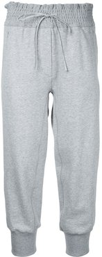 cropped track pants - Grey