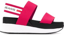 Chunky Tape platform sandals - Red