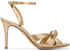 knot detail sandals - GOLD