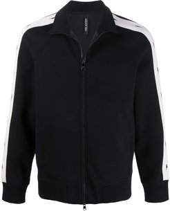 Thunderbolt double bonded zip through tracktop - Black