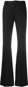 mid rise flared trousers - Black