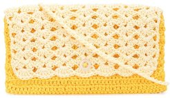 crochet crossbody wallet - Yellow