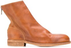zipped ankle boots - Brown