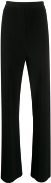 high rise knit trousers - Black