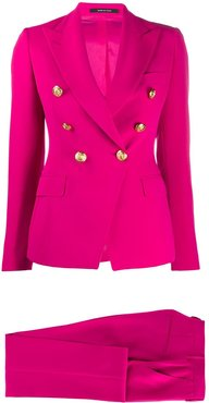 double-breasted trouser suit - PINK