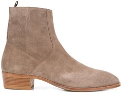 smooth ankle boots - NEUTRALS