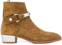 side buckle boots - Brown