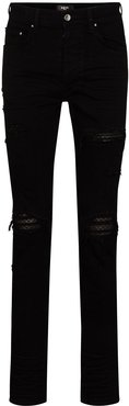 Animation quilted slim-fit jeans - Black