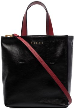 Museo leather tote bag - Black
