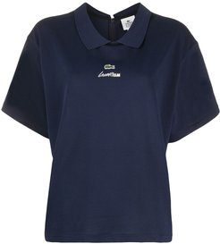 short-sleeved polo shirt - Blue