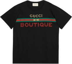 Gucci boutique print T-shirt - Black