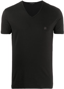 logo patch relaxed-fit T-shirt - Black