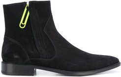 suede chelsea boots - Black