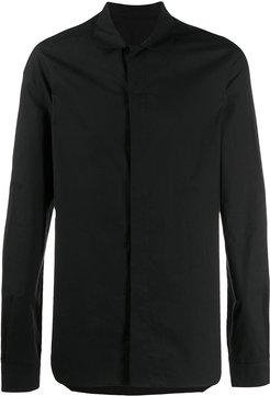 long-sleeve fitted shirt - Black