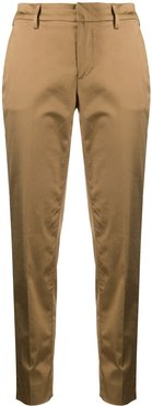 cropped tapered trousers - Brown