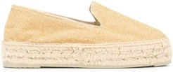 glittered slip-on espadrilles - GOLD