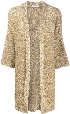 chunky knit oversized cardigan - NEUTRALS