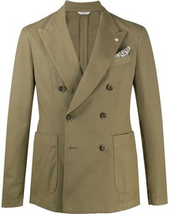 tailored double-breasted jacket - Green