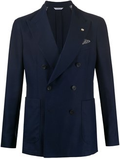 tailored double-breasted jacket - Blue