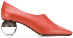 Orchis spherical-heel pumps - Red