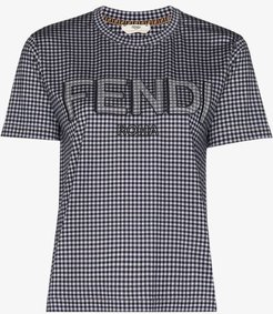 Vichy gingham logo cotton T-shirt