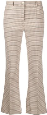 cropped flared-leg trousers - NEUTRALS