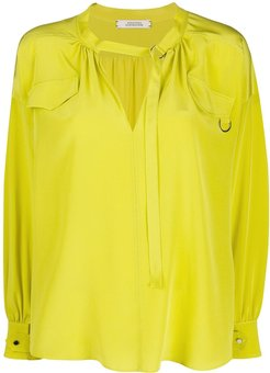 Fluid Volumes D-ring blouse - Yellow