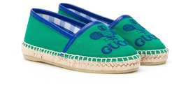 Gucci Tennis embroidered espadrilles - Green