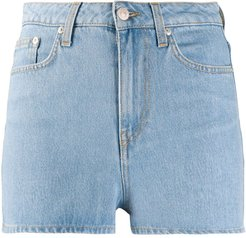 fitted denim shorts - Blue