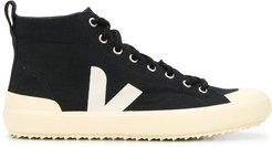 high-top lace-up sneakers - Black