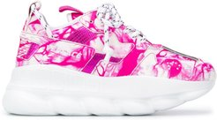 Chain Reaction abstract-print sneakers - PINK