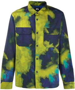 tie-dye cotton shirt - Blue