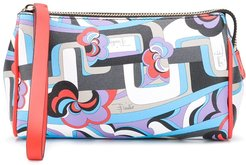 abstract print make up case - Blue