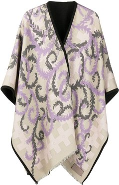 x Koché abstract-print oversize wool scarf - Neutrals