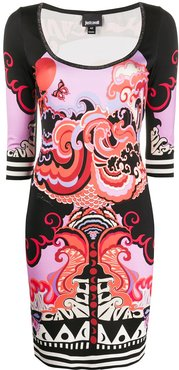 Genesis-print mini dress - Black